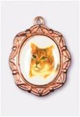 Médaille chat cuivre 19x16 mm x1