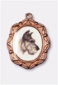 Médaille chien cuivre 19x16 mm x1
