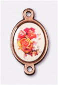 Intercalaire bouquet de roses cuivre 15x13 mm x1