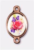 Intercalaire bouquet de fleurs cuivre 15x13 mm x1