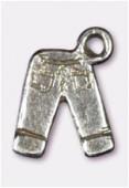 Breloque en métal jean 15x11 mm argent vieilli x2