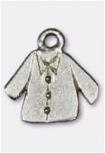 Breloque en métal veste 15x15 mm argent vieilli x2