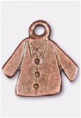 Breloque en métal veste 15x15 mm cuivre x2