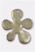 Pendentif en métal fleur matisse bronze 50x43 mm x1