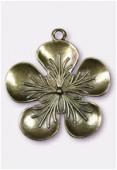 Pendentif en métal fleur pistille bronze 53x50 mm x1