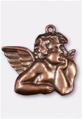 Pendentif en métal angelot cuivre 56x45 mm x1