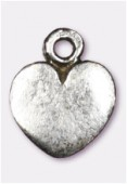 Breloque en métal coeur 10x7 mm argent vieilli x4