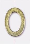 Perle en métal anneau ovale plat 25x17 mm or x1