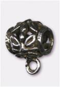 Attache breloque en métal 10x10 mm argent vieilli x2