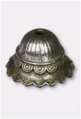 Coupelle en métal 19 mm argent vieilli x1