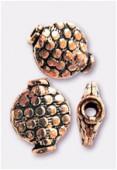 Perle en cuivre palet 10x8 mm x2