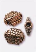 Perle en cuivre palet rectangle 12,5x10 mm x2