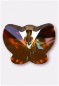 Pendentif papillon 6754 18 mm crystal copper x1