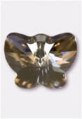 Pendentif papillon 6754 18 mm crystal silver shade x1