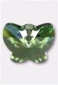 Pendentif papillon 6754 18 mm peridot x1