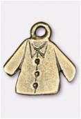 Breloque en métal veste 15x15 mm bronze x2