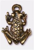 Breloque en métal grenouille 12x16 mm bronze x2