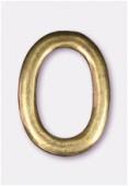 Perle en métal anneau ovale 34x24 mm bronze x1