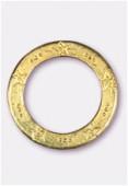 Perle en métal anneau étoiles 35 mm or x1