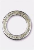 Perle en métal anneau étoiles 35 mm argent vieilli x1
