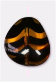Chunky triangle 18x17 mm tortoise shell x1