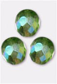 Facette 8 mm peridot AB x12