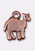 Breloque en métal dromadaire 10x8 mm cuivre x4