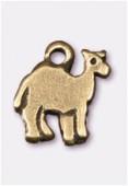 Breloque en métal dromadaire 10x8 mm bronze x4