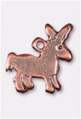 Breloque en métal âne 20x17 mm cuivre x2