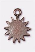 Breloque en métal soleil 16x12 mm cuivre x4