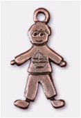 Breloque en métal little boy 22x10 mm cuivre x2