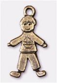 Breloque en métal little boy 22x10 mm bronze x2