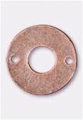 Perle en métal anneau 2 trous 15 mm cuivre x4