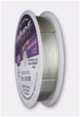 Fil acier Soft Flex 0.36 mm plaqué argent 925 x1