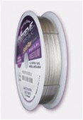 Fil acier Soft Flex 0.48 mm plaqué argent 925 x1