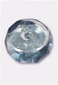 Rondelle à facettes 10x4 mm lumi blue x6