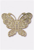 Estampe papillon 20x16 mm or x2
