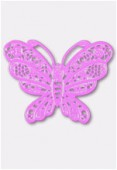 Estampe papillon 50x38 mm mauve x1