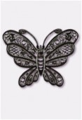 Estampe papillon 35x25 mm noir x1
