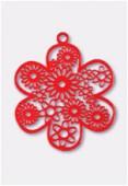 Estampe fleur 27 mm rouge x1