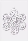 Estampe fleur 50 mm blanc x1