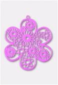 Estampe fleur 50 mm mauve x1