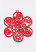 Estampe fleur 50 mm rouge x1
