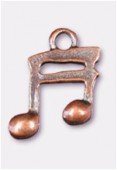 Breloque en métal double croche 15x12 mm cuivre x2