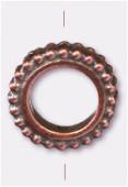 Perle en métal anneau 13 mm cuivre x1