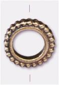 Perle en métal anneau 13 mm bronze x1