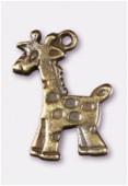 Breloque en métal girafe 17x10 mm bronze x2