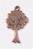 Breloque en métal arbre 20x12 mm cuivre x2