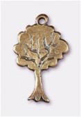 Breloque en métal arbre 20x12 mm bronze x2