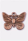 Breloque en métal papillon 22x16 mm cuivre x1